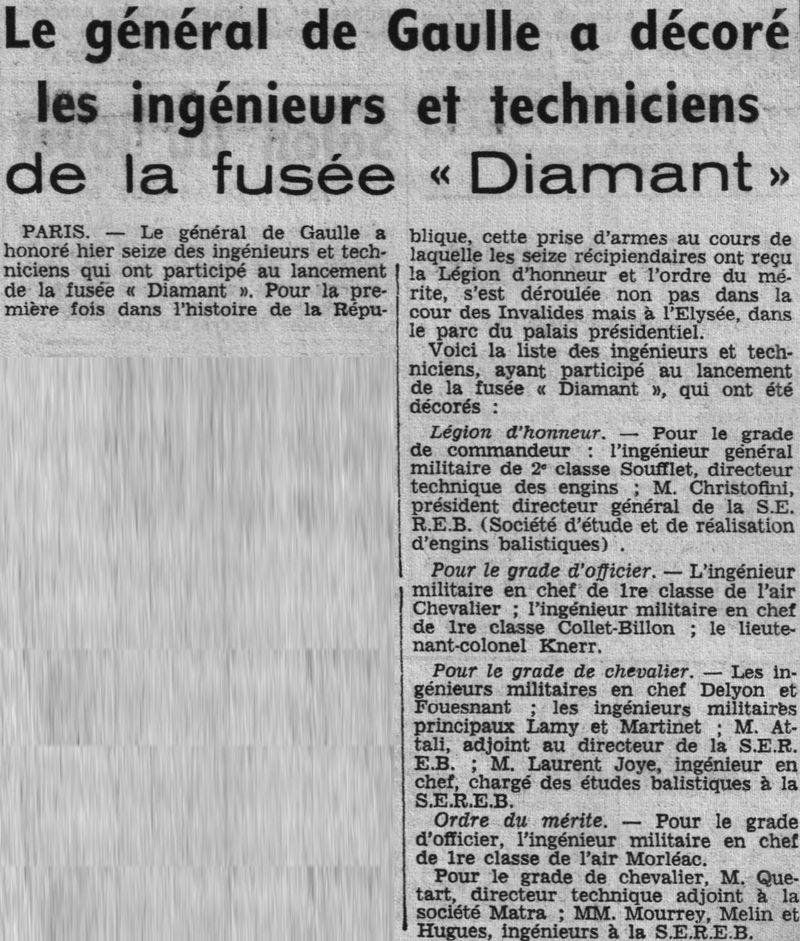 26 novembre 1965 - La France 3ème puissance spatiale 66020310