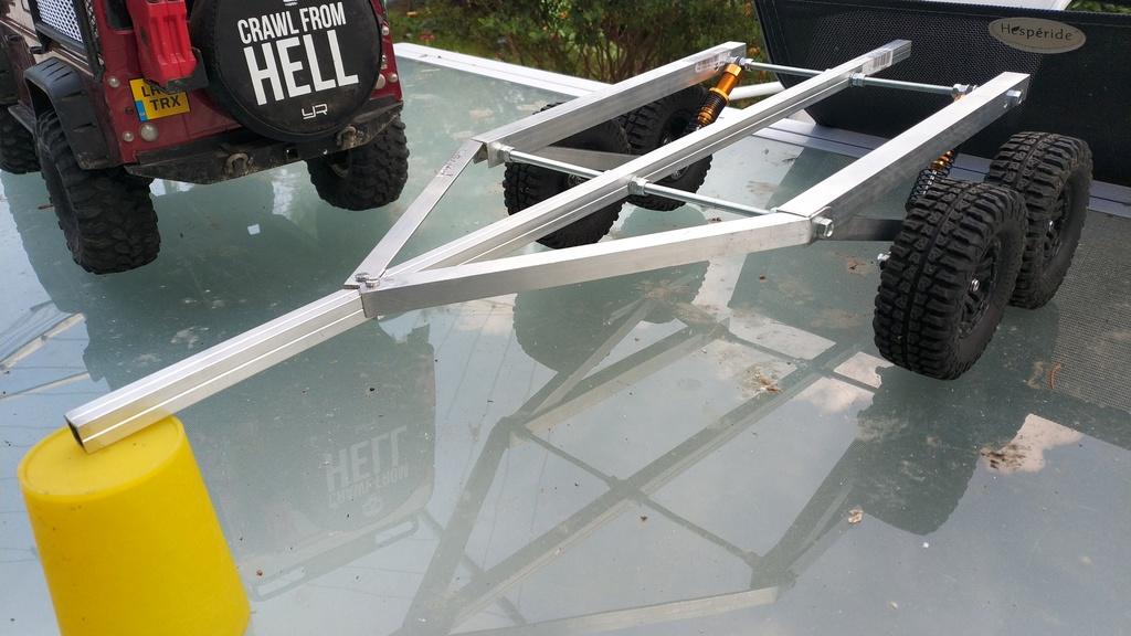 Fabrication de remorque double essieux fait maison tout en alu Img_2134
