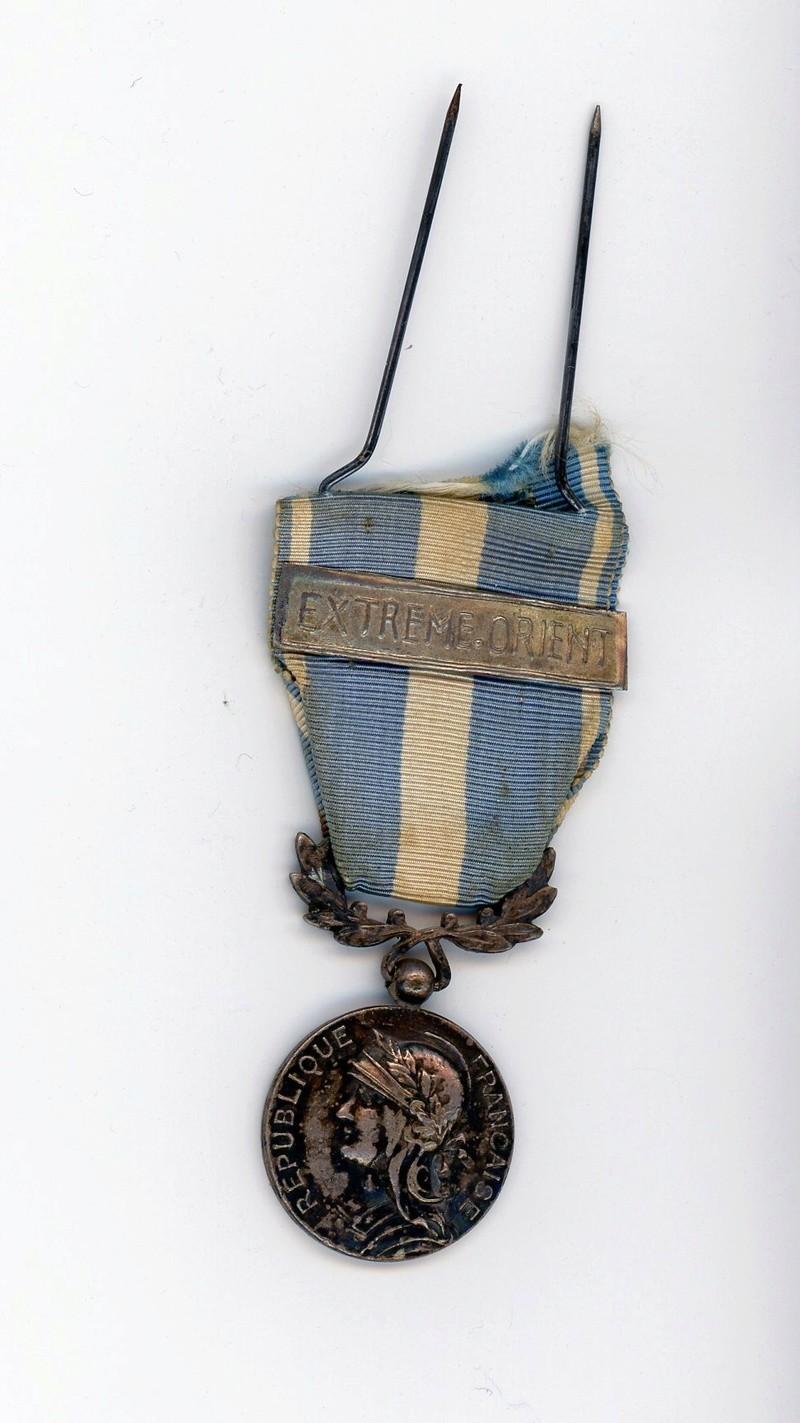 Médaille coloniale Indochine barrette Extreme Orient Locale ESC - MAI 4. A clôturer Colo0110