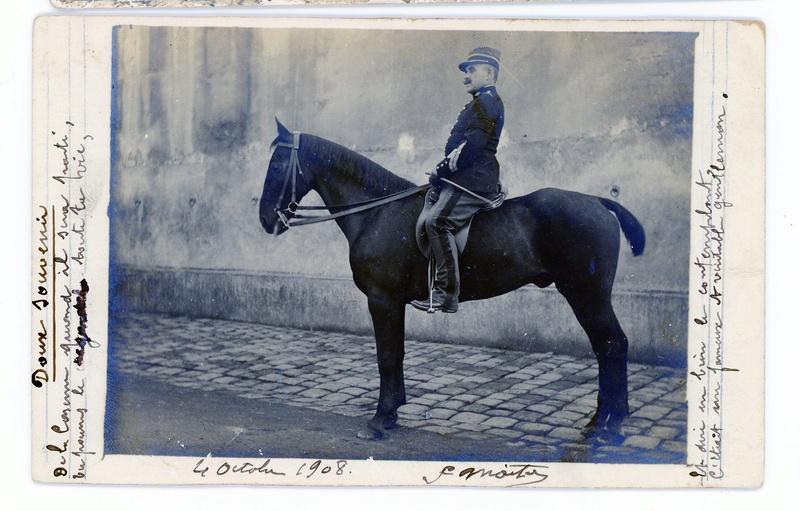 Photo  sous-officier Gendarme à cheval 1908 Annonce terminée - Déc2 ESC Gendar10