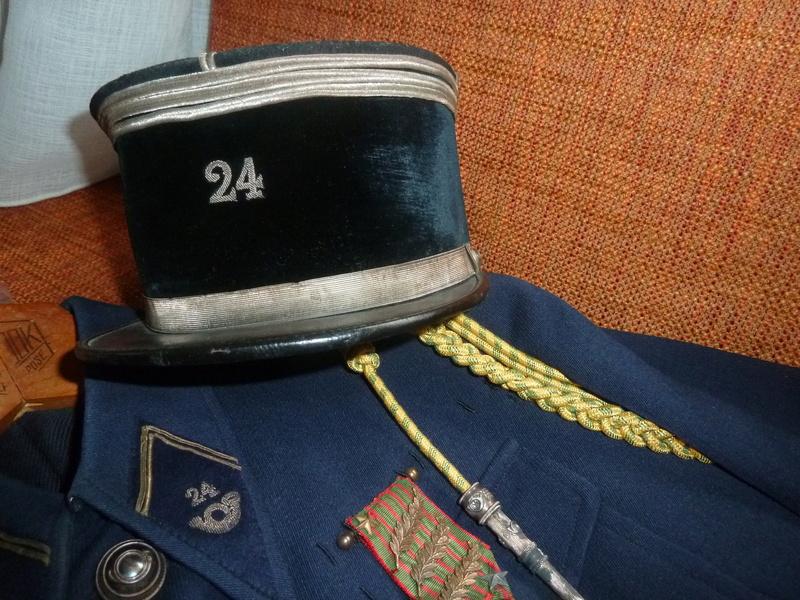 Képi modèle 19 Capitaine 24 BCA FEV 5 - ESC  Vendu P1090837