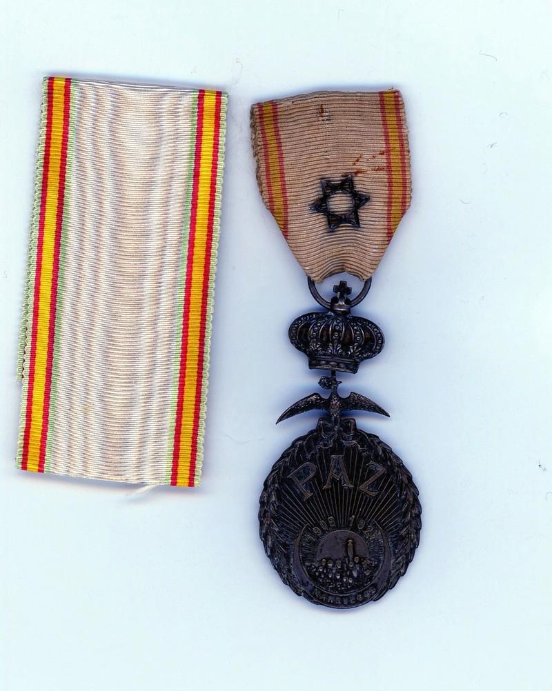 Médaille de la Paz Maroc, plus  ruban neuf ESC  - MAI 2 Vendue Paz01610