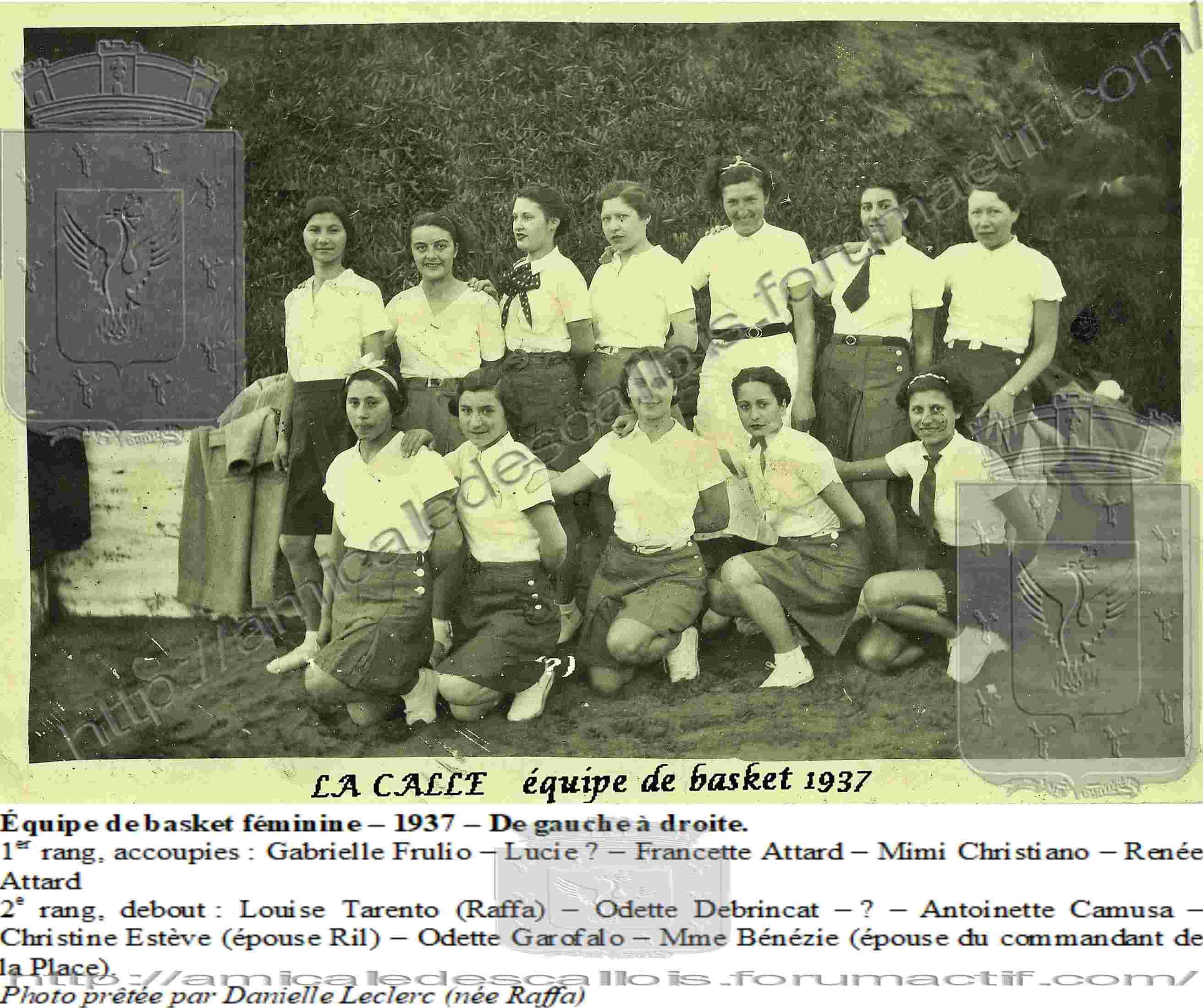Equipe de Basket Féminine de 1937 Sport210