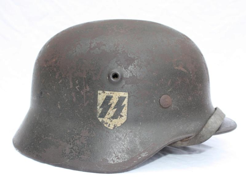 Casque M40 Quist Waffen SS de la LAH Casque53