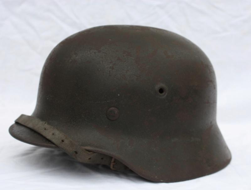 Casque M40 Quist Waffen SS de la LAH Casque55