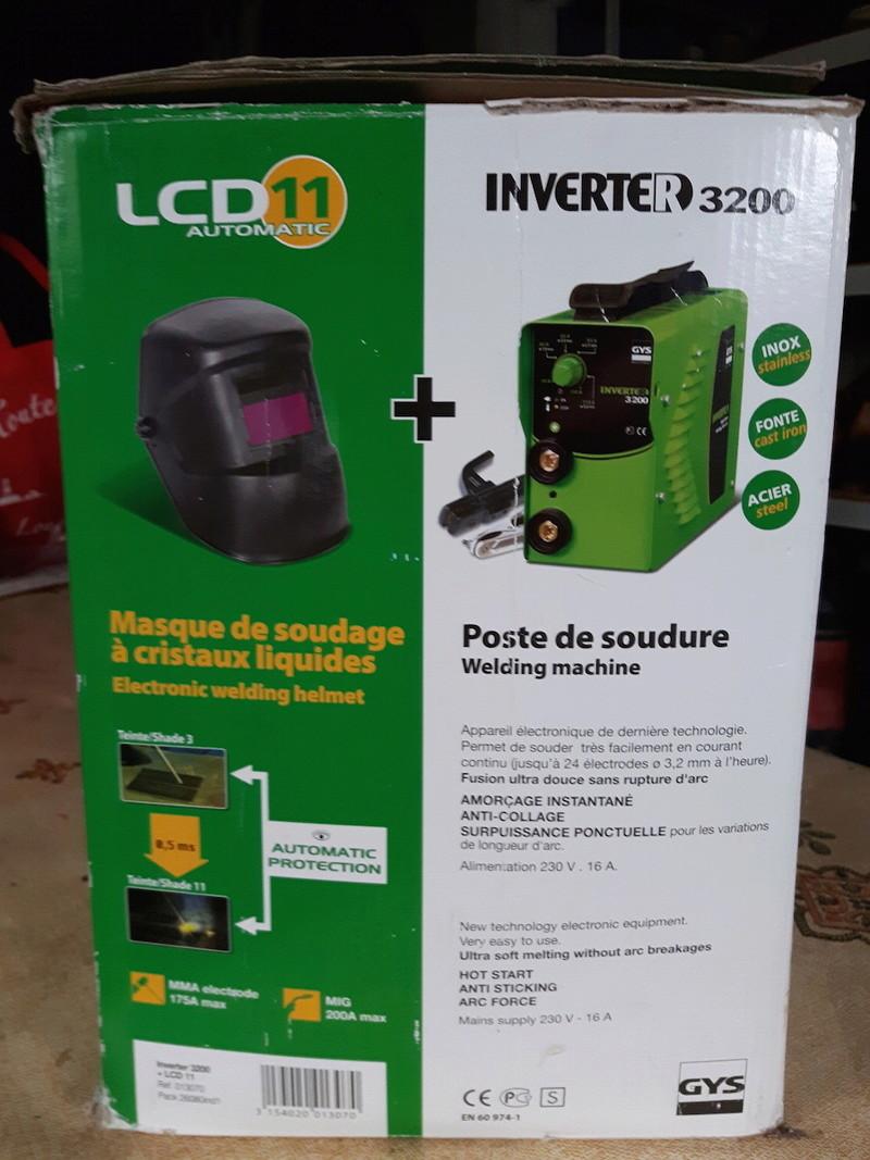 [Vendu ] Poste à soudure Inverter 3200 et Masque à cristaux liquide LCD 11 20180110