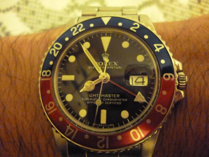 Montre vendue à regret pour projet autre - Rare Rolex GMT 1675 Maxi Dial - Boîte - Papier Expert Rolex reconnu- Possible échange étudie proposition équitable seulement sur Rolex Daytona acier ou Patek Philippe 00710110
