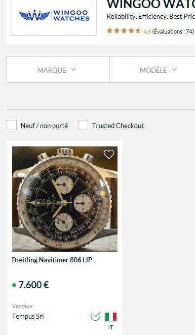 Breitling/Lip Navitimer type 806, la plus prisée et la plus chère des montres Lip actuellement et pour cause! Breitl10