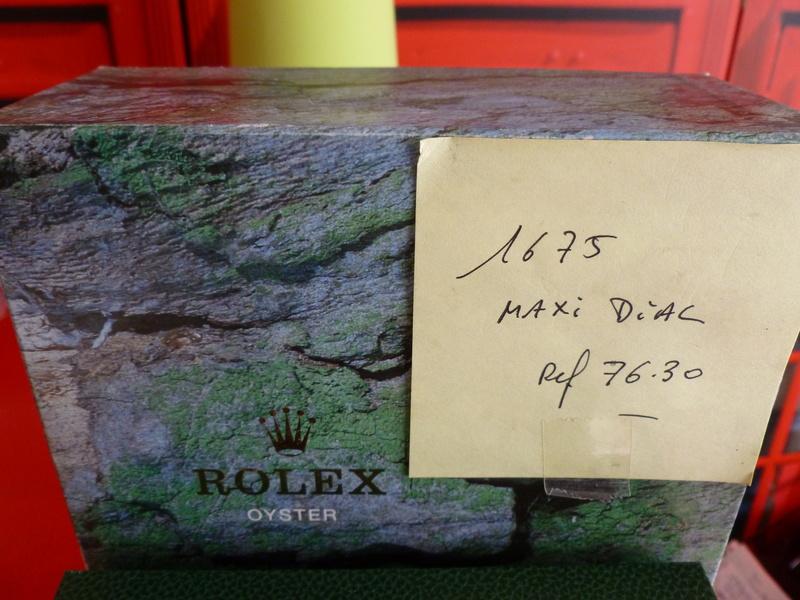 Montre vendue à regret pour projet autre - Rare Rolex GMT 1675 Maxi Dial - Boîte - Papier Expert Rolex reconnu- Possible échange étudie proposition équitable seulement sur Rolex Daytona acier ou Patek Philippe Except10