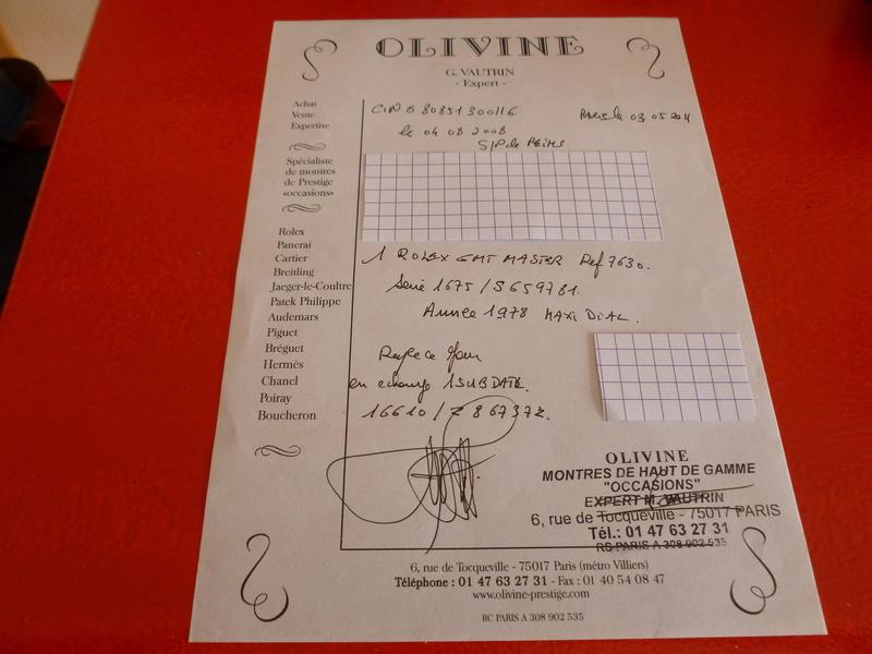 Rare Rolex GMT 1675 Maxi Dial - Boîte - Papier Expert Rolex reconnu- Possible échange étudie proposition équitable seulement sur Rolex Daytona acier ou Patek Philippe Except11