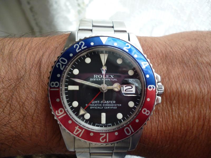 Montre vendue à regret pour projet autre - Rare Rolex GMT 1675 Maxi Dial - Boîte - Papier Expert Rolex reconnu- Possible échange étudie proposition équitable seulement sur Rolex Daytona acier ou Patek Philippe Plus_p10
