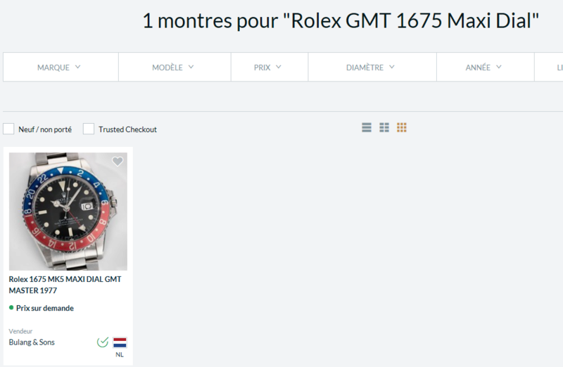 Montre vendue à regret pour projet autre - Rare Rolex GMT 1675 Maxi Dial - Boîte - Papier Expert Rolex reconnu- Possible échange étudie proposition équitable seulement sur Rolex Daytona acier ou Patek Philippe Rolex_10
