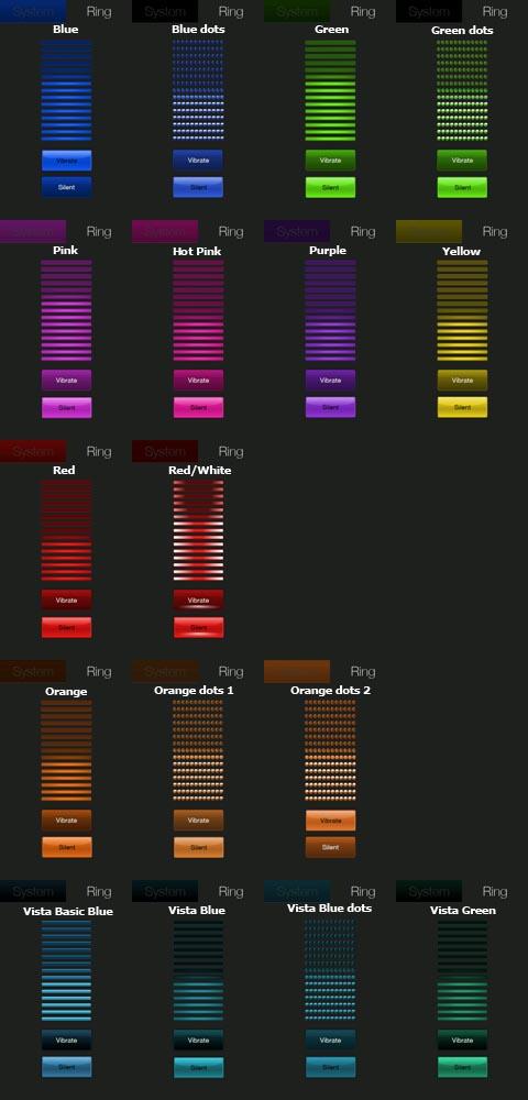 Colored HTC Volume Control for HD2 Colore10