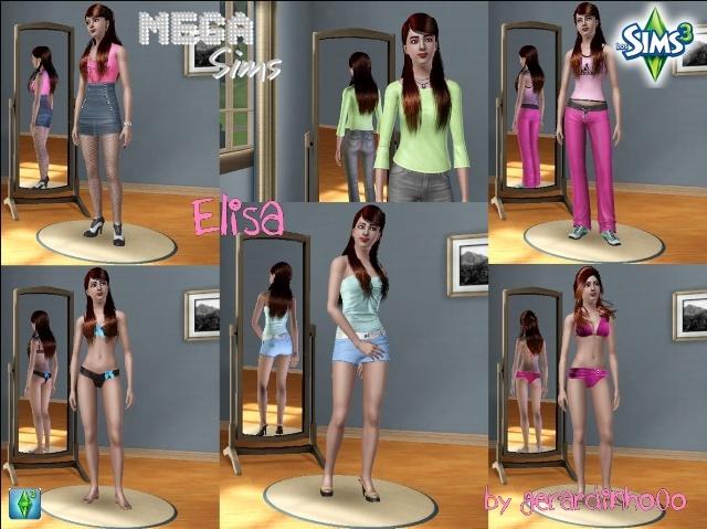 Nueva Descarga para Mega Sims por gerardinho0o Elisa10