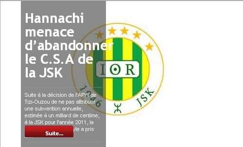 [Dossier] : Affaire JSK - APW Tizi Ouzou 20101226