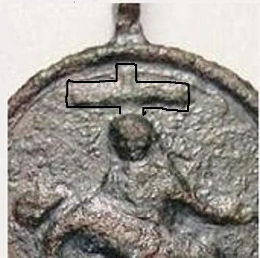 Médaille à la Pieta et aux deux anges - XVII / XVIIIème Po10