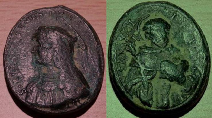Médaille St-Dominique de Guzman/Ste-Rose-de-Lima - XVIIème (médaille de JEF) Roucao10