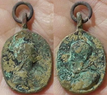 Médaille St François de Sales, ste Thérèse d'Avila XVIII ém Ste_th10