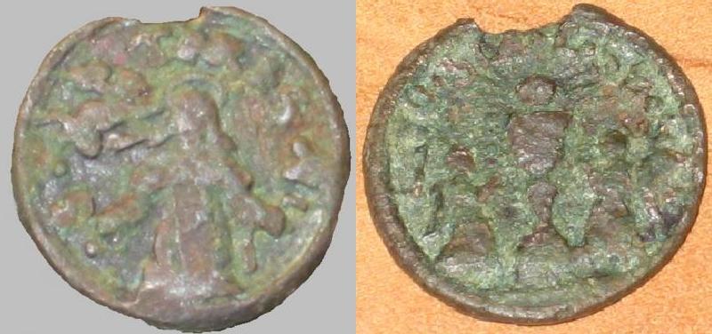 Médaille Ste-Thérèse-d'Avila et St-Sacrement - sans bélière - XVIIème probable Trouv_10