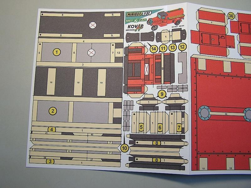 Blech-/Kartonmodelle Feuerwehrfahrzeuge von Kovap in 1:32 1014
