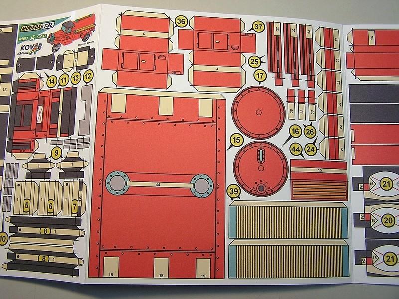 Blech-/Kartonmodelle Feuerwehrfahrzeuge von Kovap in 1:32 1113
