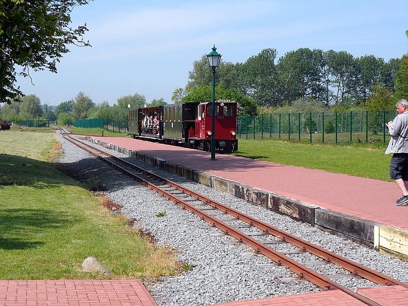 """Schmalspurbahn """"De lütt Kaffeebrenner"""" in Klütz (Mecklenburg-Vorpommern) 23b10"""