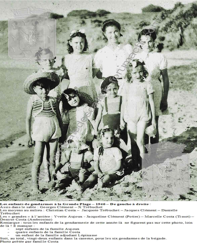 Les enfants de gendarmes à la Grande Plage – 1946 –  PC 127 1946_e10