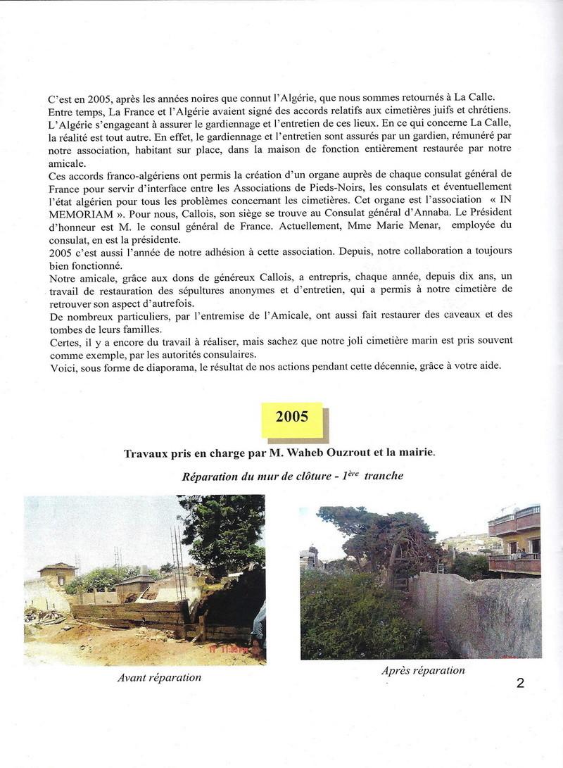 Les Travaux Réalisés 2005 le commencement Cimeti11