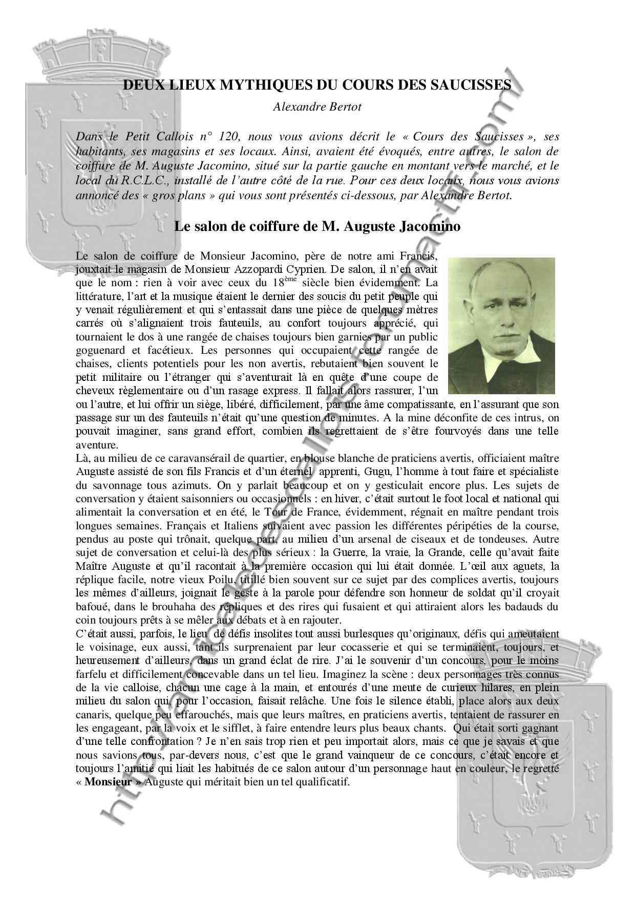 Deux lieux mythiques du cours des Saucisses - PC121-Alexandre Bertot- Deux_l10