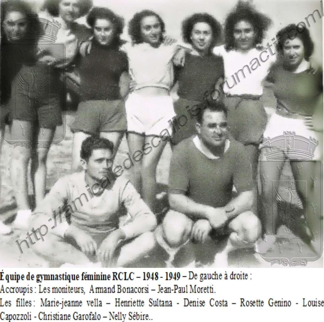 Equipe de Gymnastique féminine - 1948-1949 Equipe13