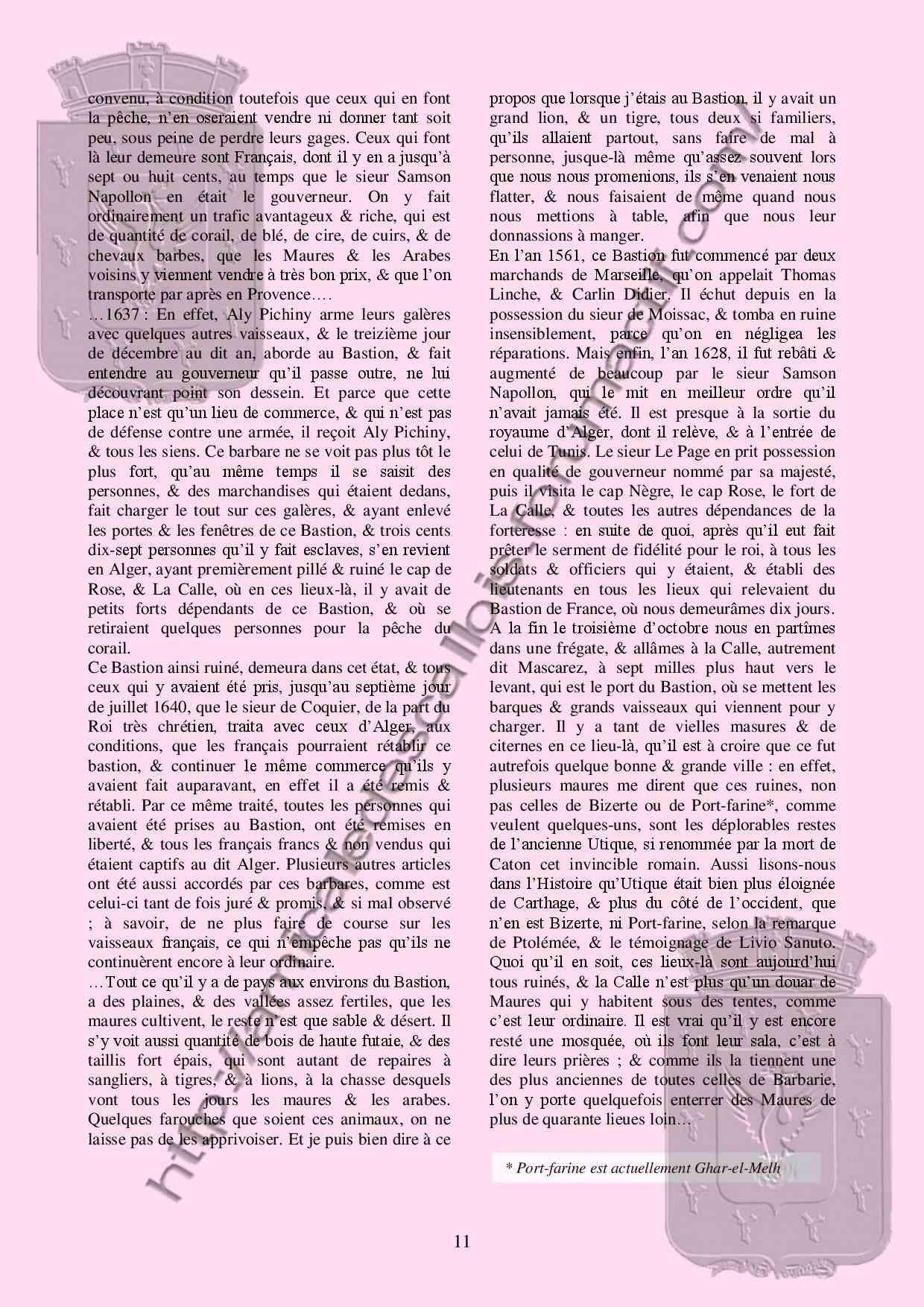 La vie au Bastion de France au XVII - COSTA Christian - PC 133 La_vie11