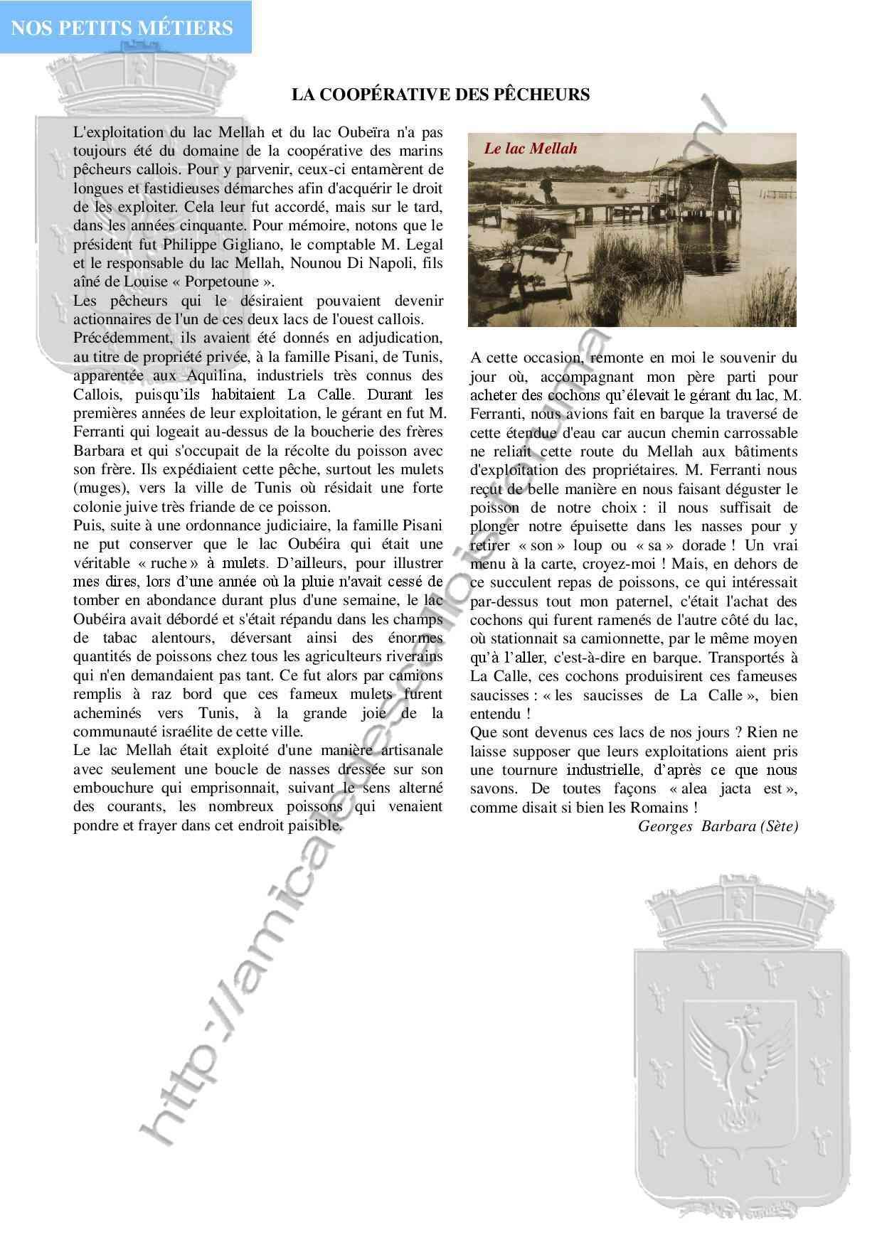 Les lacs et la Coopérative des Pêcheurs -Vie Economique- Georges BARBARA -PC127 -  Pc127_10