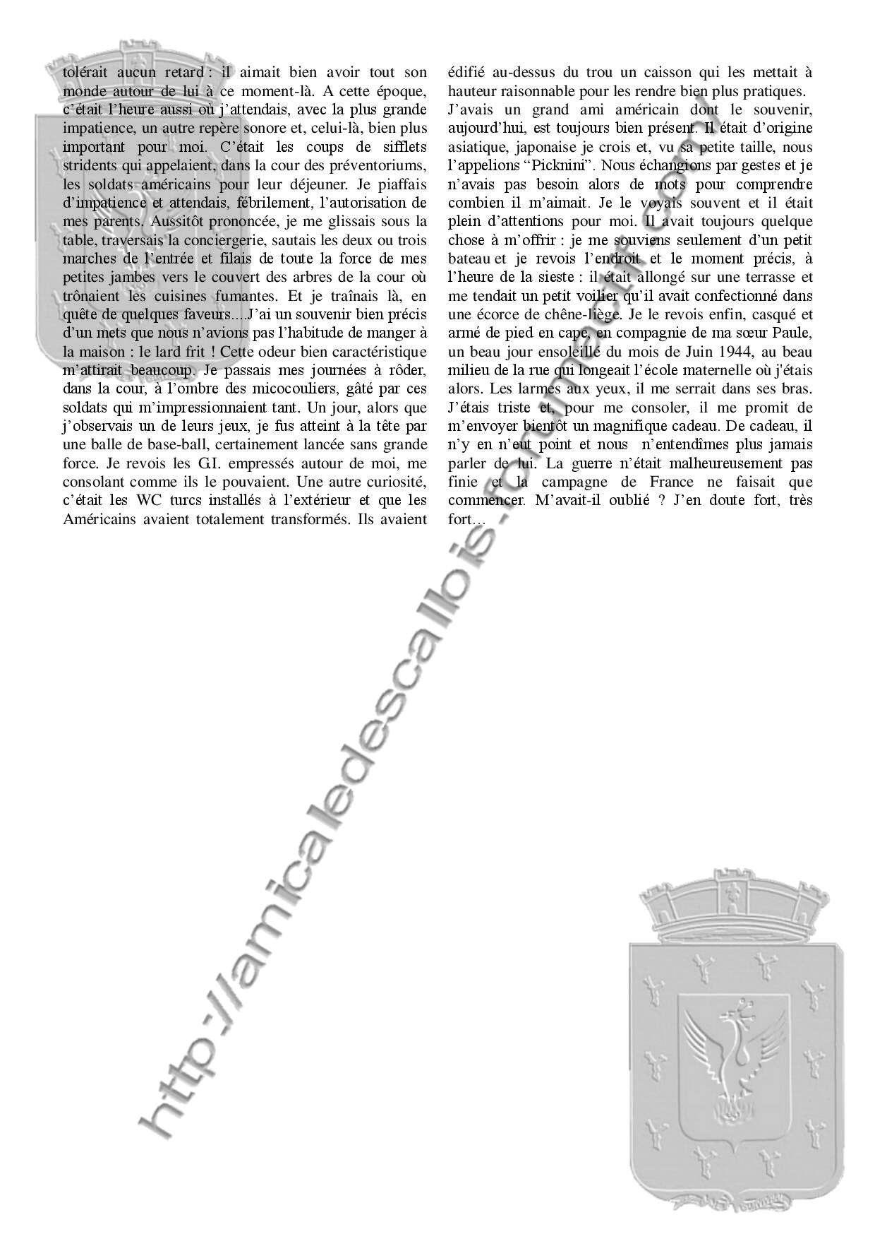 Souvenirs et chroniques Les Américains au préventorium - PC138 - Alexandre Bertot Souven10