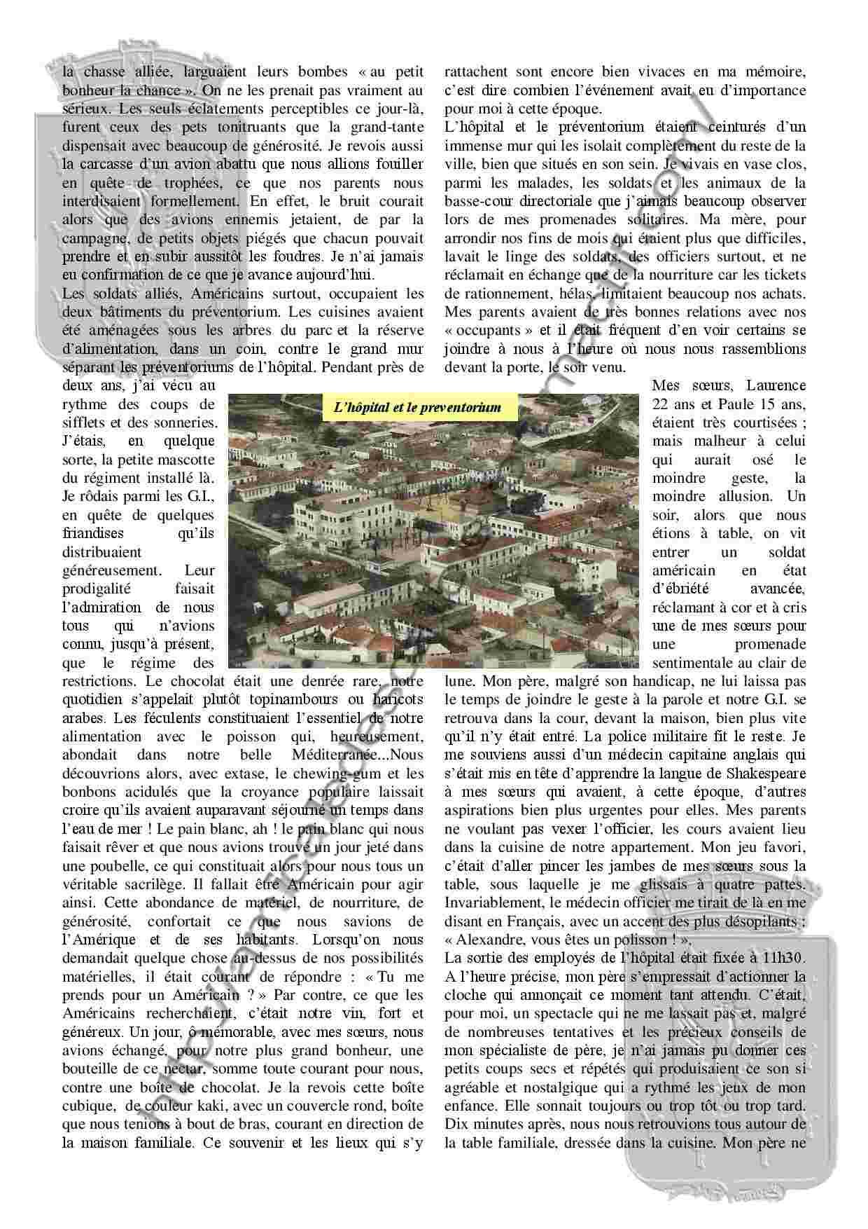 Souvenirs et chroniques Les Américains au préventorium - PC138 - Alexandre Bertot Souven11
