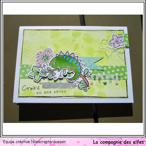 Sketch scrap / carte par Sandrine Nini1345