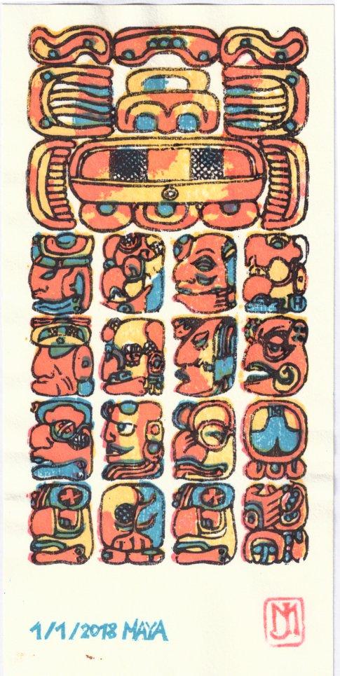 Bonne Année 2018 Maya2010