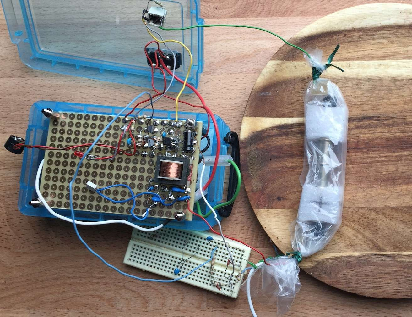 Application Geiger Bot, compteur Geiger, mesure de sources, de bruit de fond et autres stats. Captu117