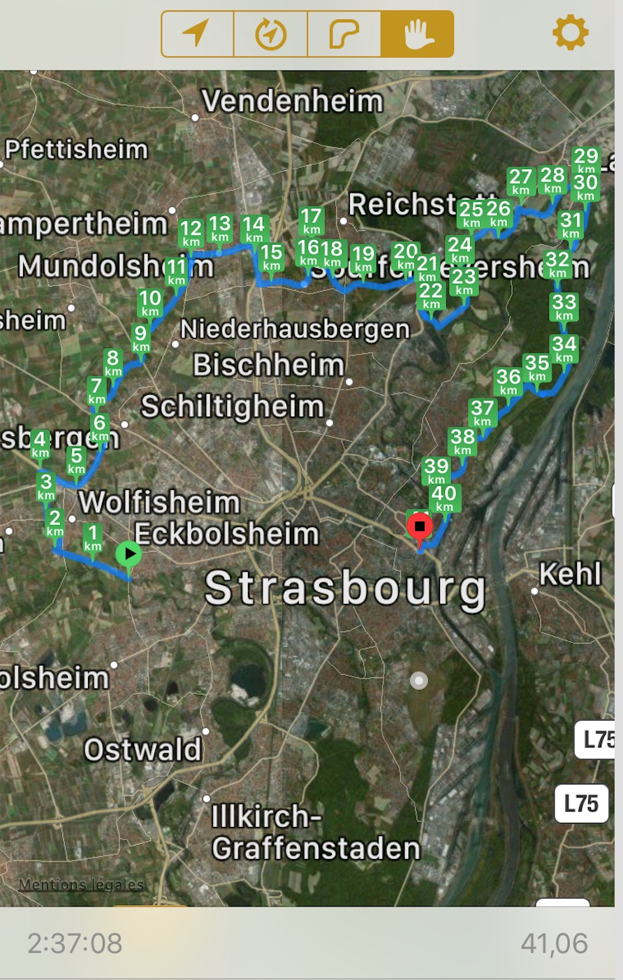 85km à Vélo : La Piste des Forts à Strasbourg Captu170
