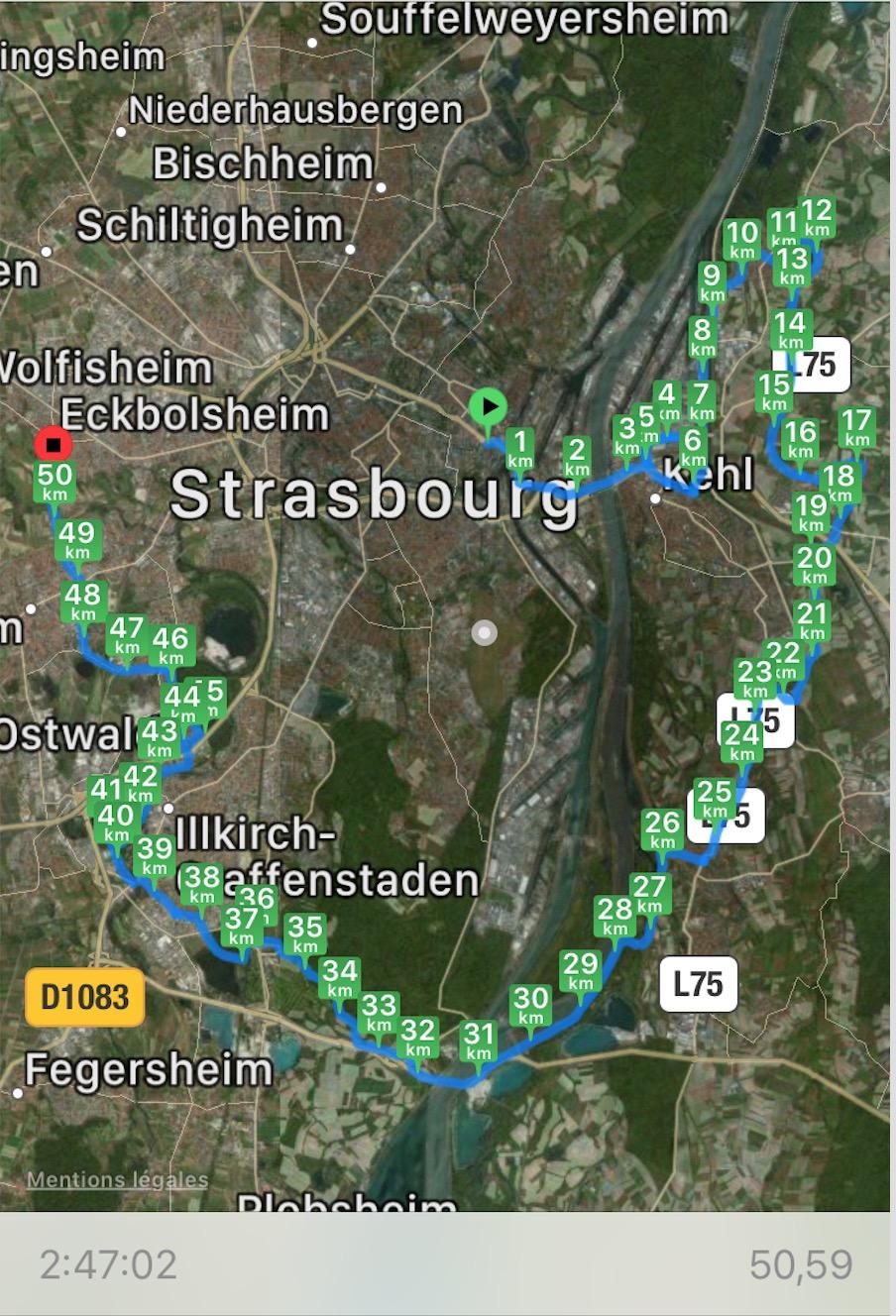85km à Vélo : La Piste des Forts à Strasbourg Captu171