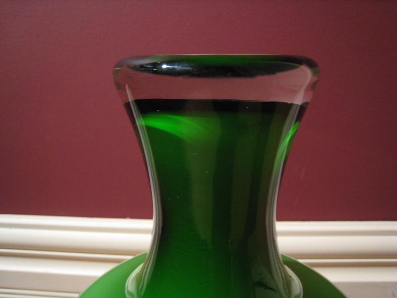 Swedish Green and White Glass Vases Img_2414