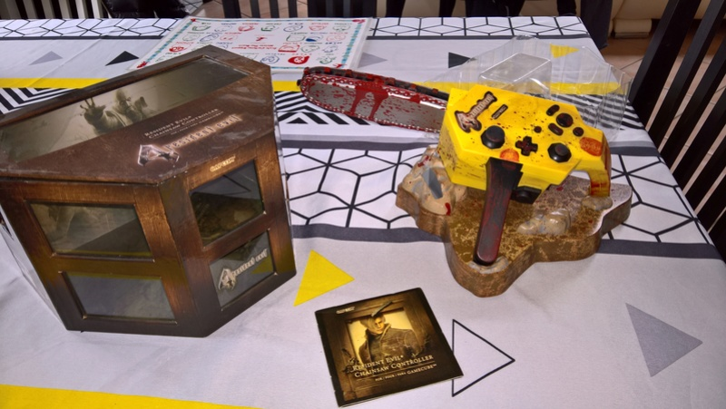 MANETTE COLLECTOR RESIDENT EVIL 4 POUR GAMECUBE +FIGURINES RE4 Wp_20113