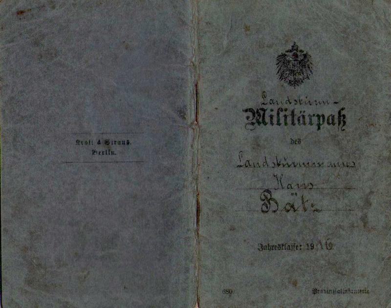 Militärpaß 1916 : KIR 145 Metz 0010