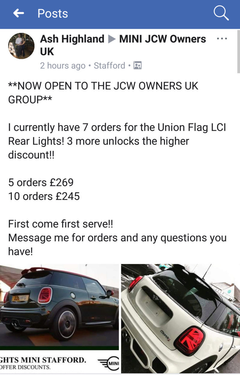 Who's getting the new Union Jack LED lights? 20180311