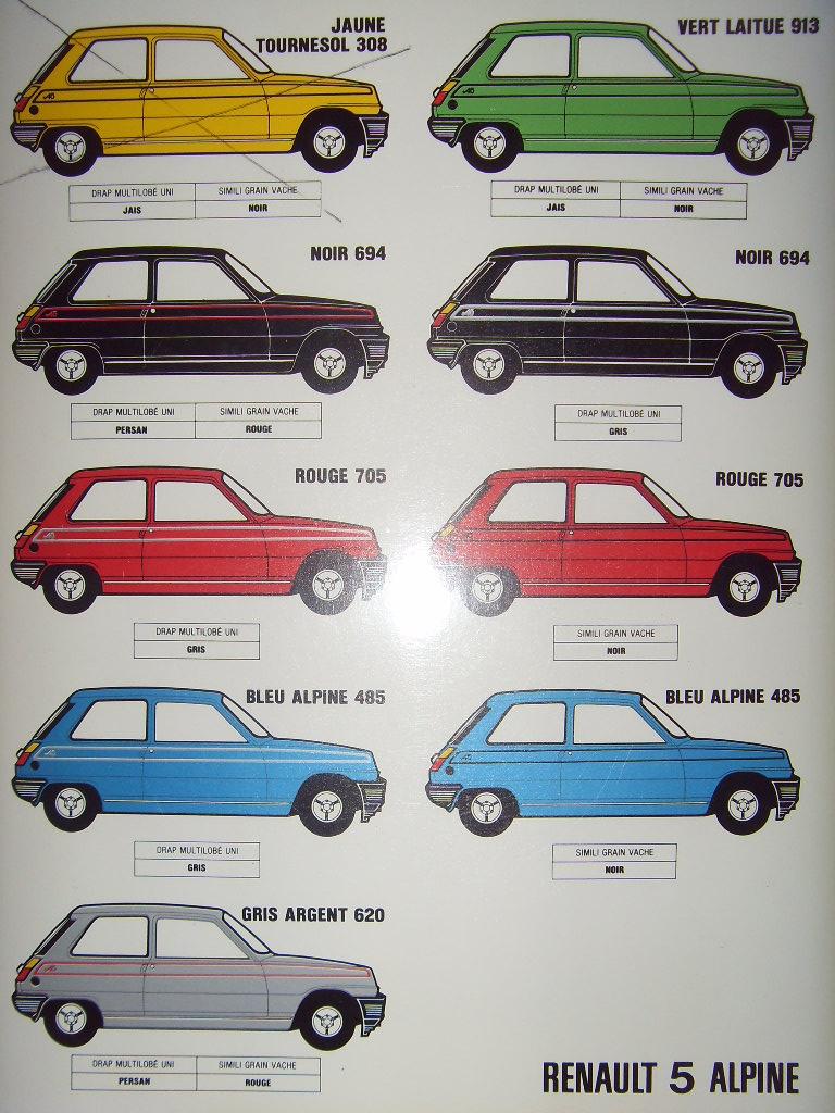 Nuancier Renault 5 Sdc10033