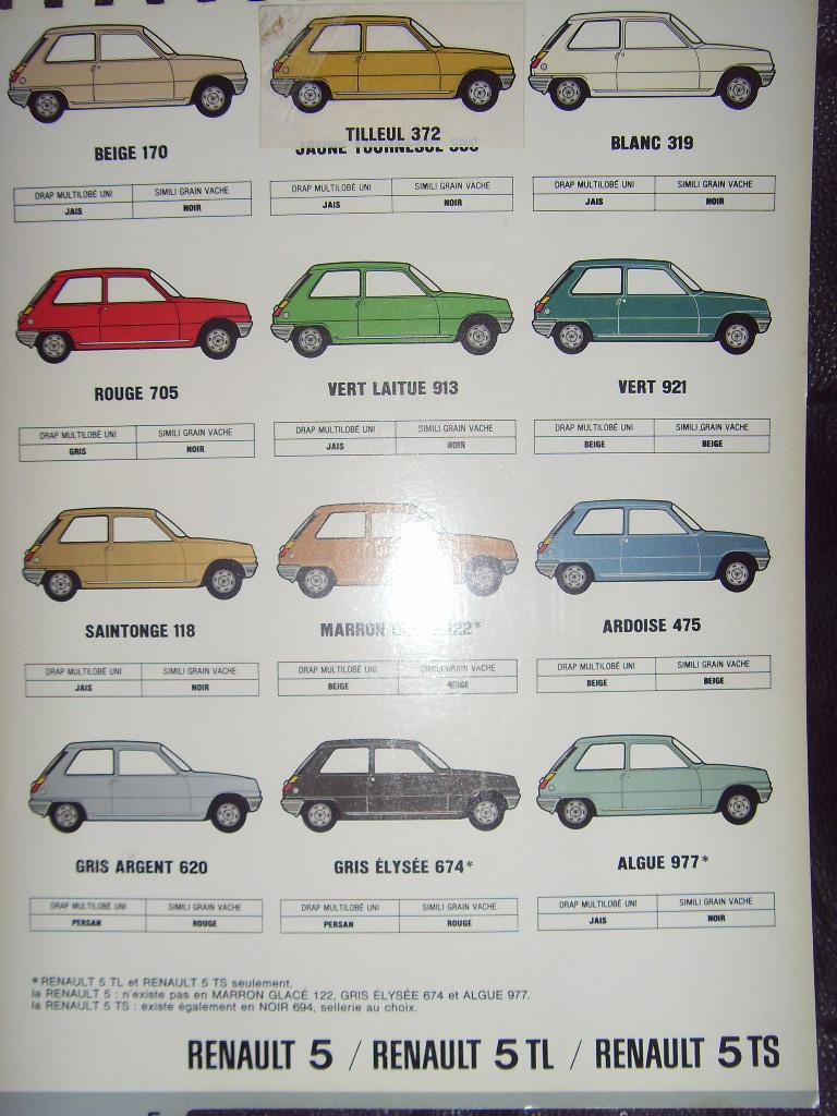 Nuancier Renault 5 Sdc10035