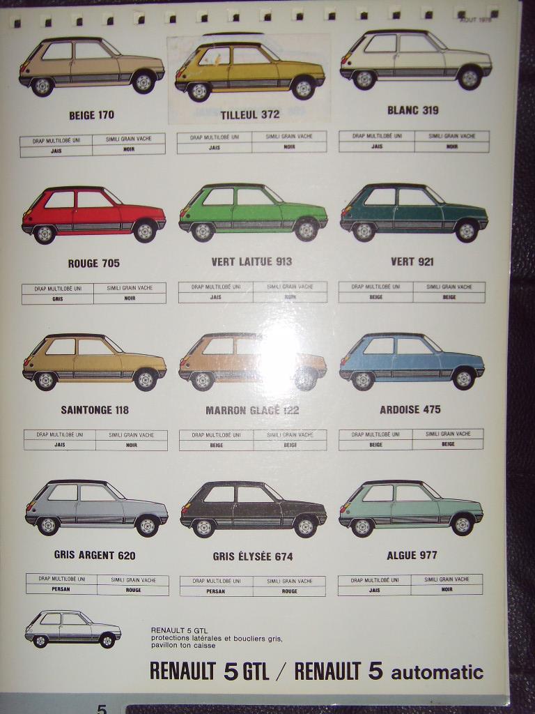 Nuancier Renault 5 Sdc10036