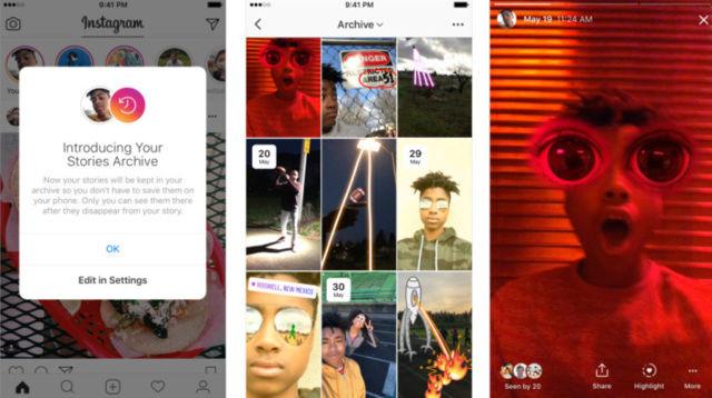 """12 Novità in arrivo su Instagram: """"Highlights"""", """"Archive"""" e altro! Scherm11"""