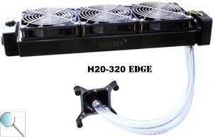 3 120mm rads run consecutively or 1 360mm rad?  Which runs cooler?   H20-3210