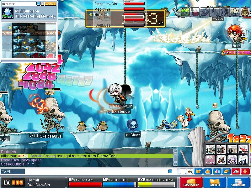 me when grinding on skeles ^^ Maple010