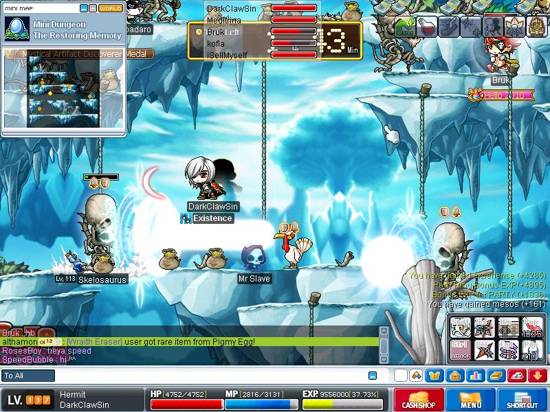 me when grinding on skeles ^^ Maple011